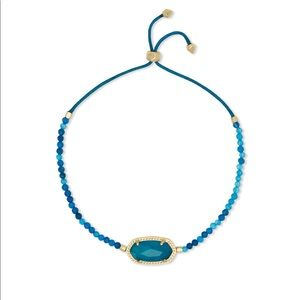 Kendra Scott Elaina Gold Beaded Bracelet In Teal